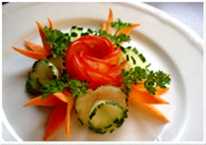 Carrot Leaves Garnish